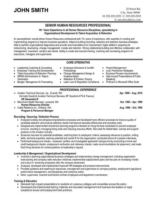 free resume templates human resources hr template sample format word file interactive Resume Human Resources Resume Template