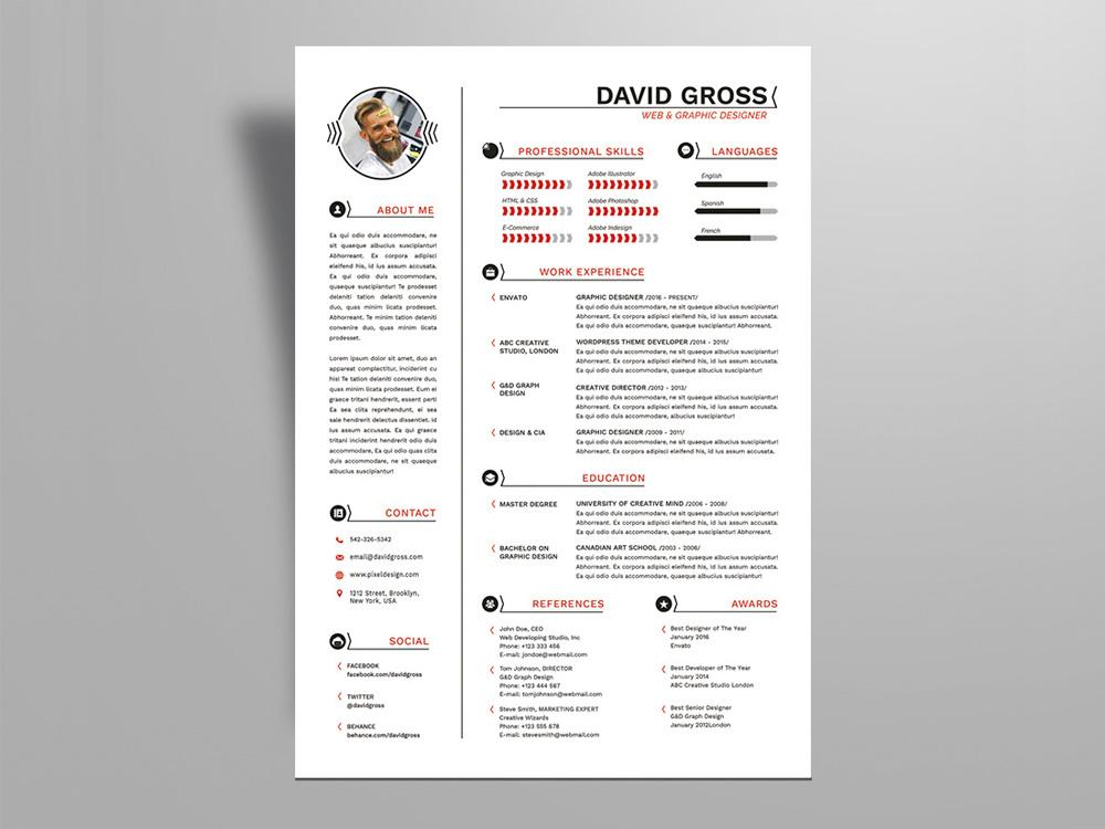 free resume templates in indesign format creativebooster template hipster style for job Resume Resume Indesign Template Free Download