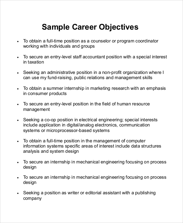 free sample career objective statement templates in ms word pdf resume for economics Resume Resume Objective For Economics Graduate