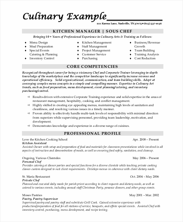 free sample chef resume templates in ms word pdf personal objective sous automotive Resume Personal Chef Resume Objective