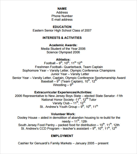 free sample college resume templates in ms word pdf activities for application template Resume Activities Resume For College