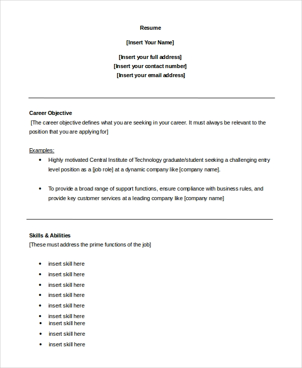 free sample customer service objective templates in pdf ms word statement for resume Resume Customer Service Objective Statement For Resume Example