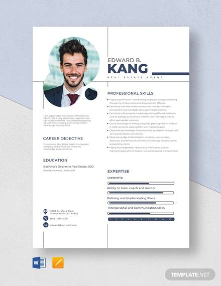 free sample estate agent resume templates in ms word pdf examples template review college Resume Real Estate Resume Examples Free