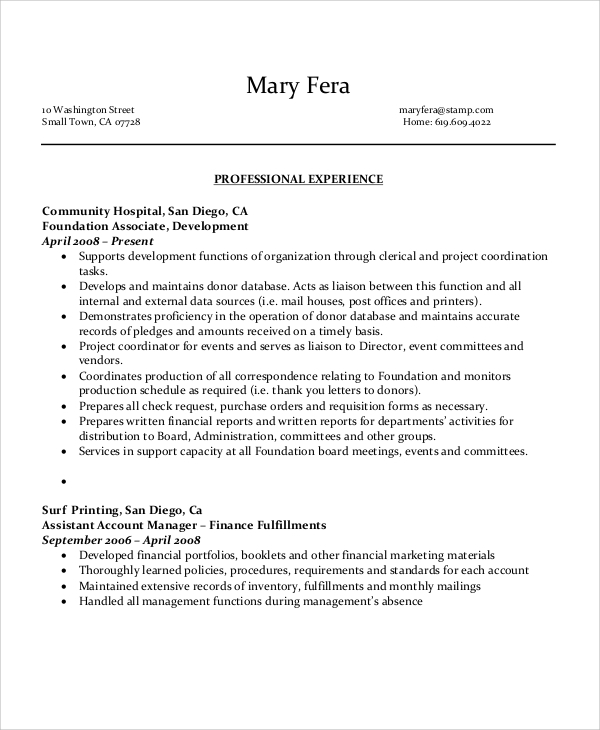 free sample executive administrative assistant resume templates in ms word pdf Resume Administrative Professional Resume