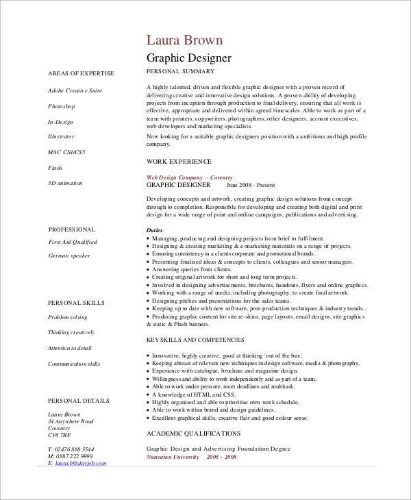 free sample graphic design resume templates in pdf designer job example1 concierge copy Resume Graphic Designer Job Resume Sample