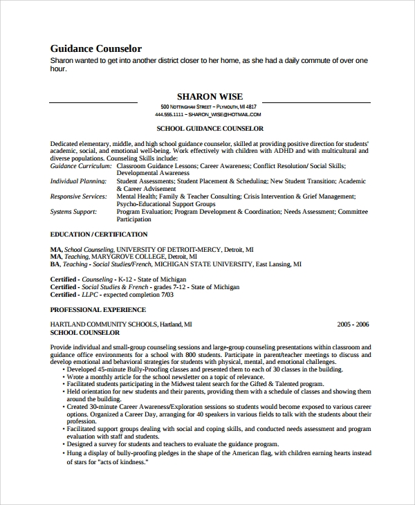 free sample guidance counselor resume templates in ms word pdf licensed professional Resume Licensed Professional Counselor Resume