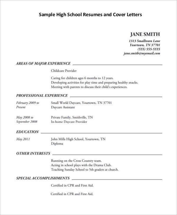 free sample high school resume templates in pdf ms word first example automotive parts Resume First Resume High School