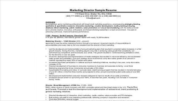 free sample marketing director resume templates in ms word pdf samples resumes best style Resume Marketing Director Resume Samples