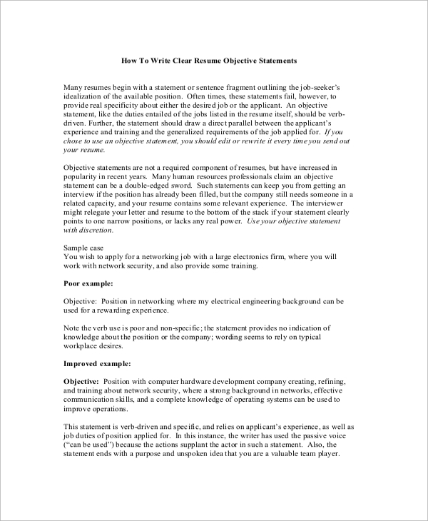 free sample objectives in pdf ms word resume with statement of purpose writing an clear Resume Resume With Statement Of Purpose