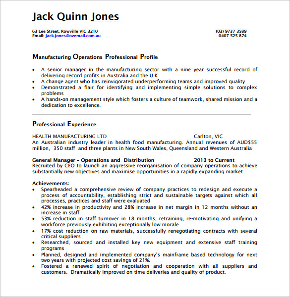 free sample operations manager resume templates in pdf ms word distribution for composer Resume Distribution Operations Manager Resume Sample