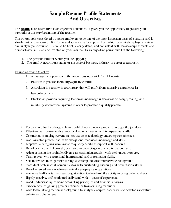 free sample resume objective examples in pdf portion of example first job out college for Resume Objective Portion Of Resume Examples