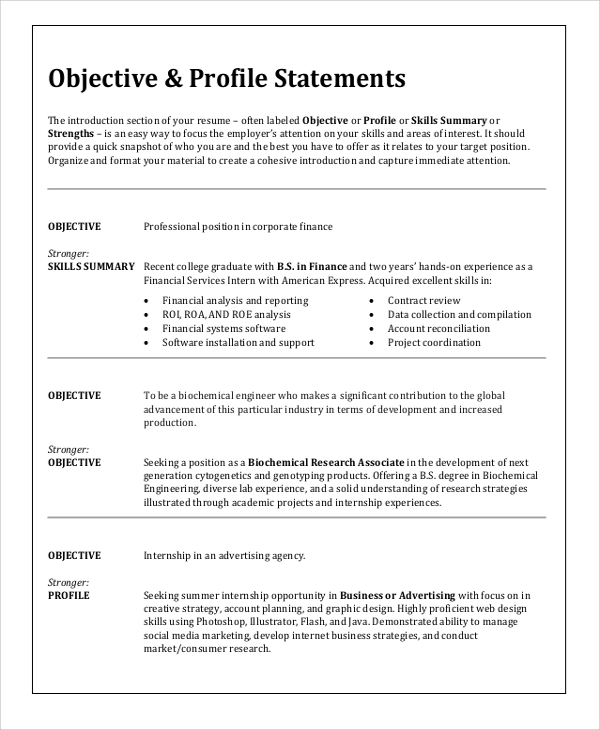 free sample resume objective templates in ms word pdf for any type of job topresume Resume Resume Objective For Any Type Of Job