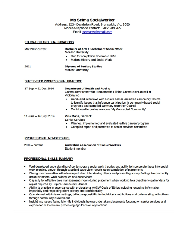 free sample social worker resume templates in pdf ms word medical mortgage consultant Resume Social Worker Resume Sample Templates