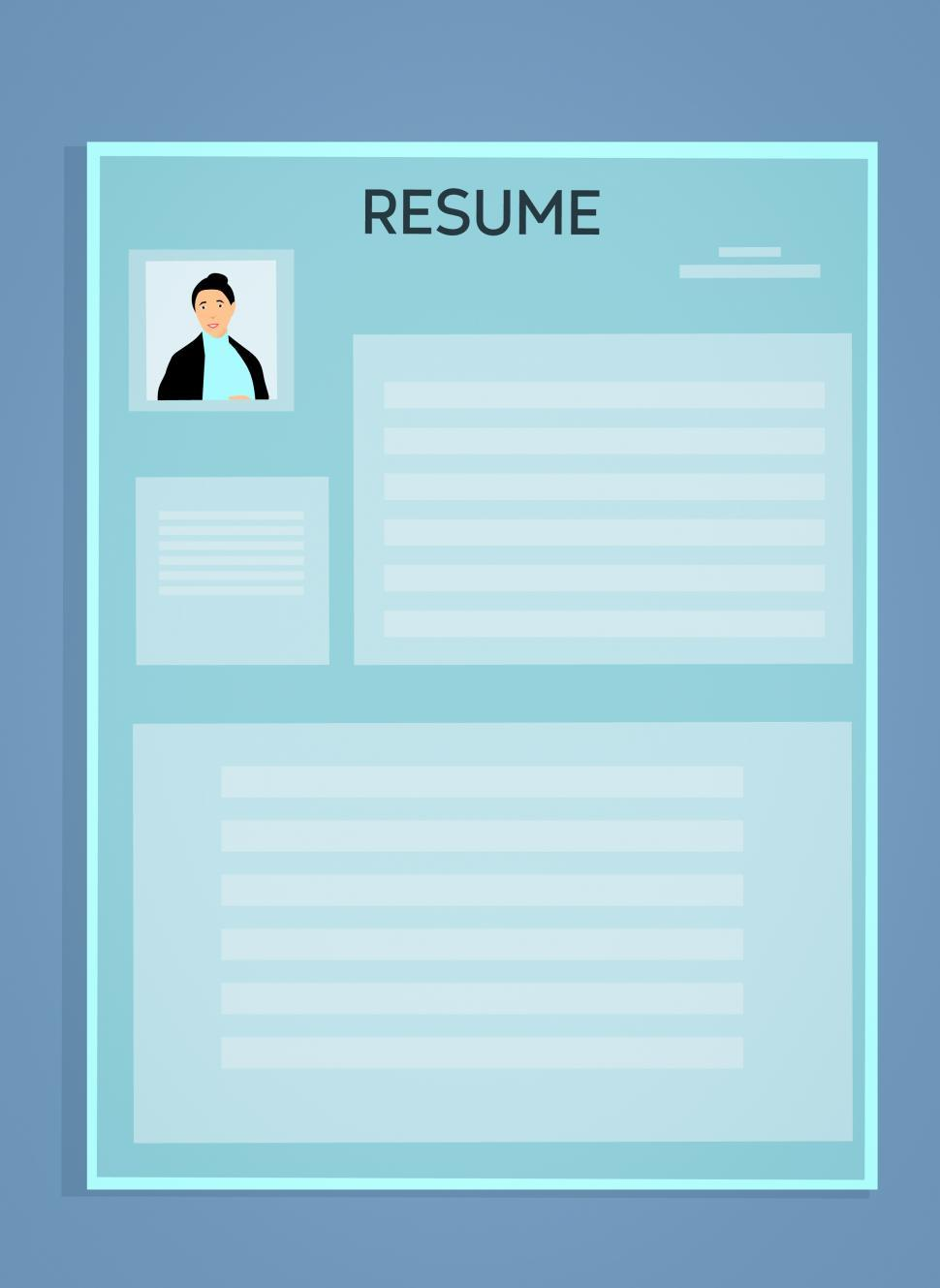 free stock photo of resume template latest images and illustrations photos hire heroes Resume Free Stock Photos Resume