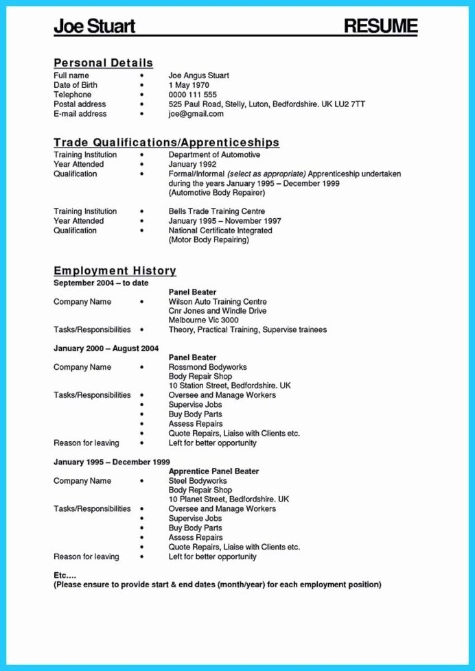 fresh delivering your credentials effectively on auto mechanic first job resume template Resume Automotive Paint Technician Resume