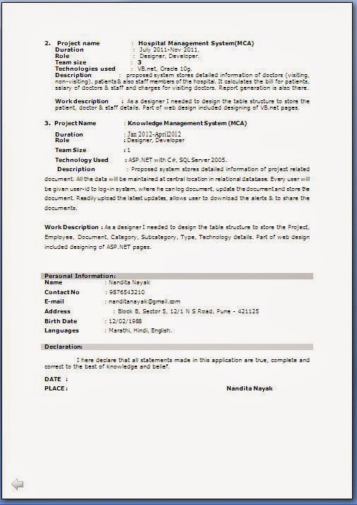 fresher resume format pdf mca components of business analysis skills design manager Resume Mca Fresher Resume Format Download