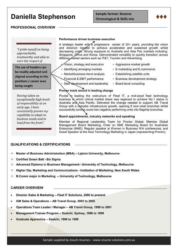 functional resume template example writing australian style examples executive sample Resume Resume Writing Australian Style Examples