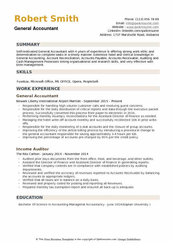 general accountant resume samples qwikresume summary for pdf disaster restoration Resume General Summary For Resume