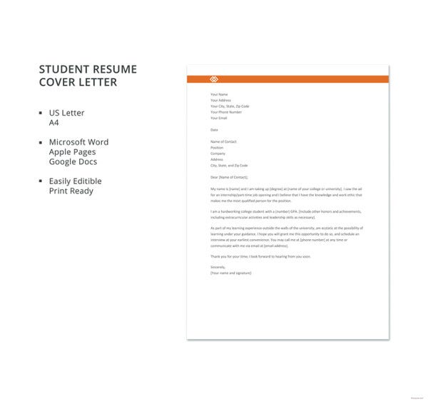 general cover letter templates pdf free premium generic for resume student template nurse Resume Generic Cover Letter For Resume
