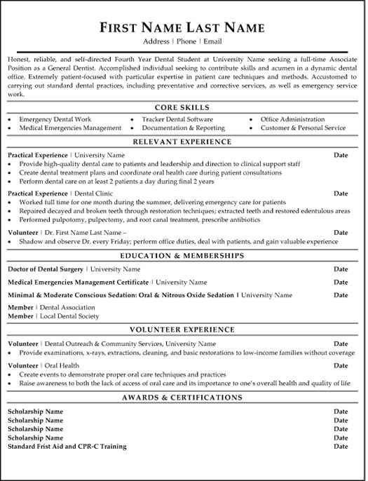 general dentist resume sample template associate entry level security guard example for Resume Associate Dentist Resume