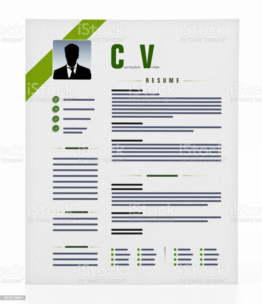 generic resume isolated on stock photo image now free photos makeup artist objective Resume Free Stock Photos Resume