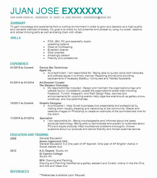 genius mac technician resume example apple new for acting job community manager template Resume Apple Genius Resume Example