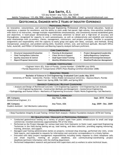 geotechnical engineer front runner resume writing director legal office manager Resume Geotechnical Engineer Resume