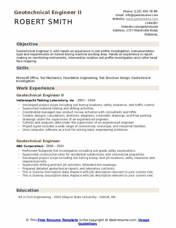 geotechnical engineer resume samples qwikresume pdf wording examples creating the perfect Resume Geotechnical Engineer Resume