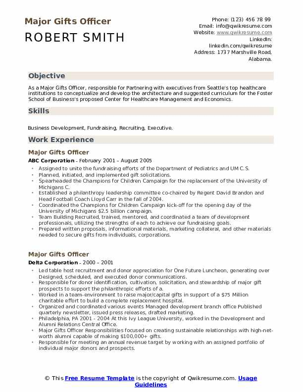 gifts officer resume samples qwikresume pdf free creative templates occupational Resume Major Gifts Officer Resume