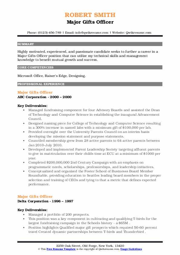 gifts officer resume samples qwikresume pdf safety coordinator professional objective for Resume Major Gifts Officer Resume