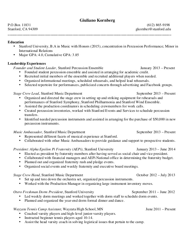 giuliano kornberg main resume for fraternity points writing simple professional template Resume Resume For Fraternity Rush