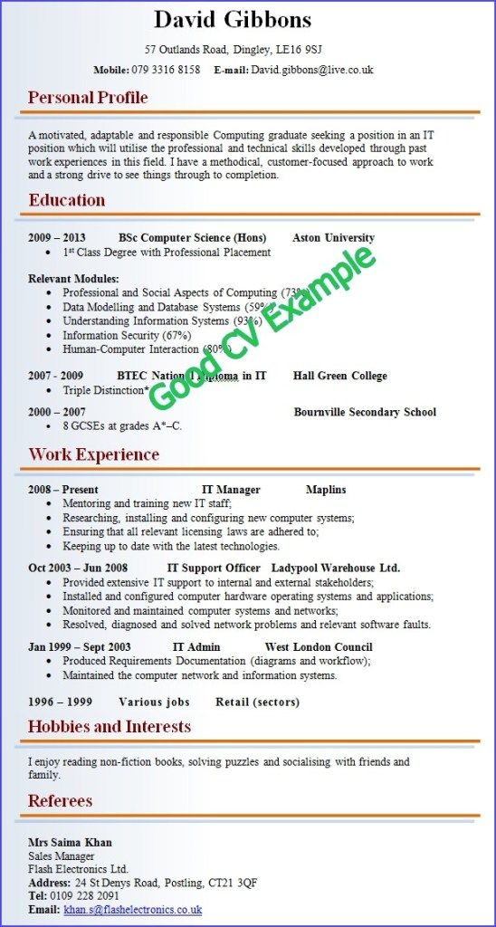 good and cv resume examples job samples qualifications for clean simple format emt Resume Good Qualifications For A Job Resume