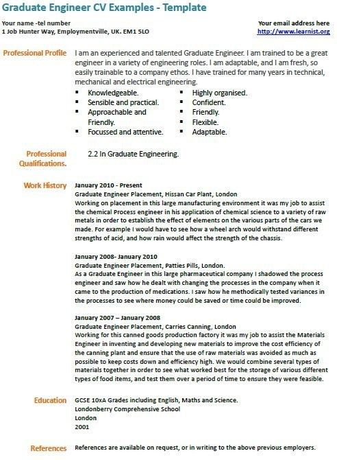 graduate engineer cv example learnist examples student template resume dp skills for Resume Graduate Engineer Resume Template