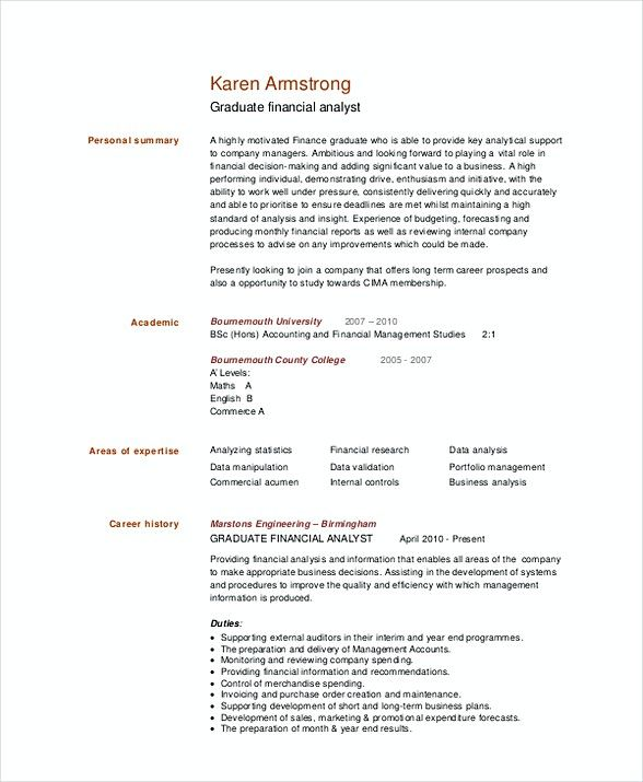 graduate financial analyst resume template are you searching for good examples summary Resume Good Resume Summary For Students