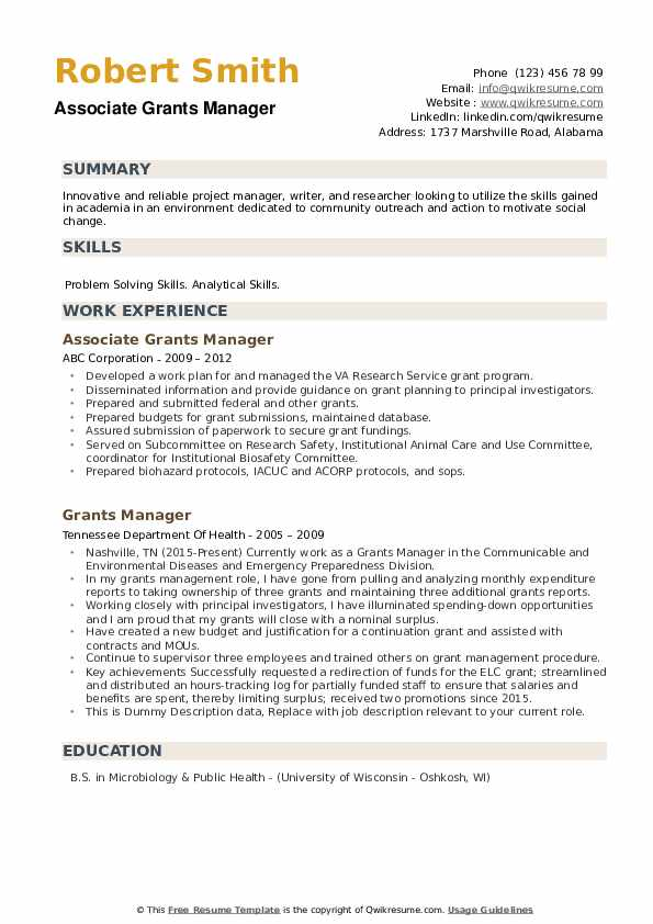 grants manager resume samples qwikresume sample for pdf monster biotechnology clerical Resume Sample Resume For Grant Manager