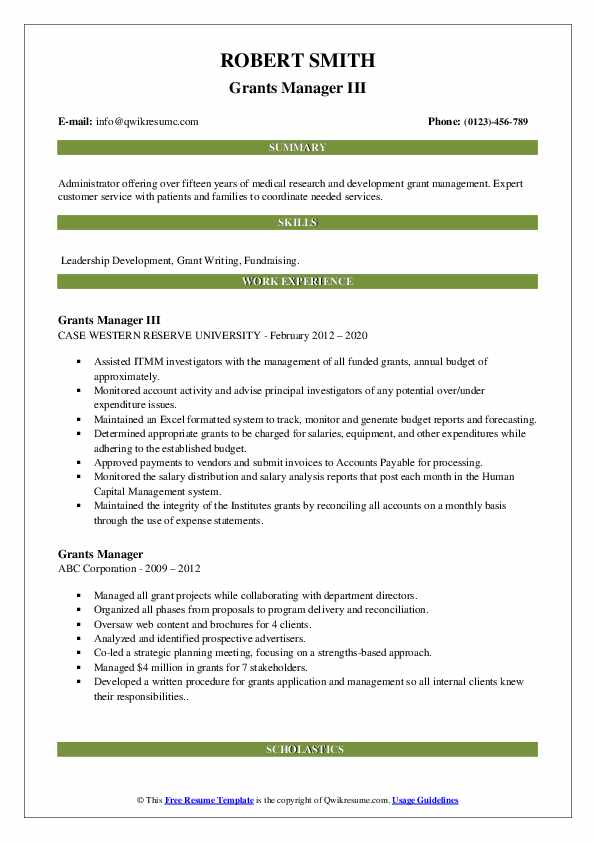 grants manager resume samples qwikresume sample for pdf skills and strengths examples Resume Sample Resume For Grant Manager