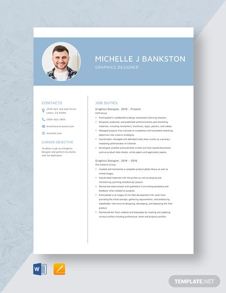 graphic designer resume template free word pdf format premium templates job sample Resume Graphic Designer Job Resume Sample