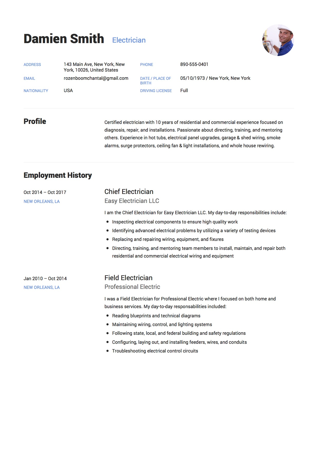 guide electrician resume samples examples pdf word objective statement example serif font Resume Electrician Resume Objective Statement