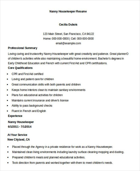 gunblood us nanny resume example housekeeper examples job free samples private assembly Resume Private Housekeeper Resume