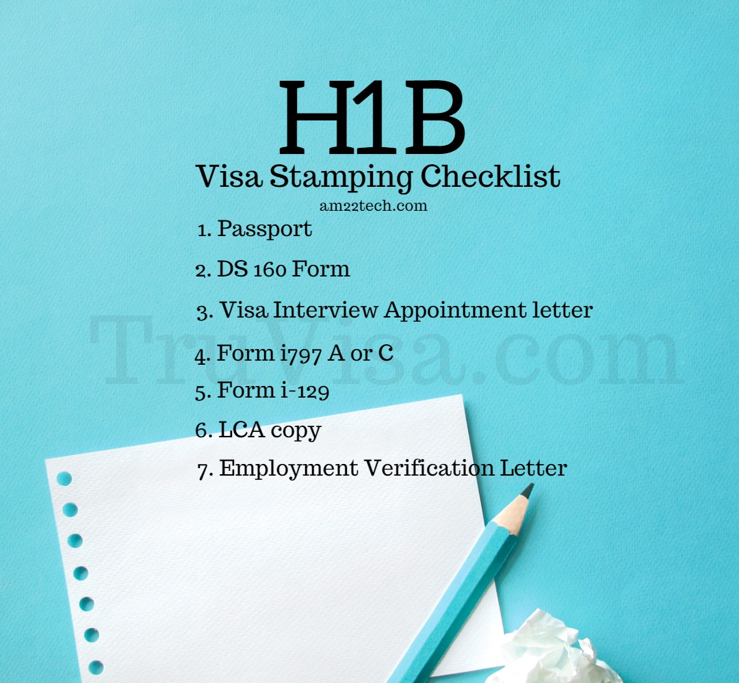 h1b visa stamping documents checklist for resume interview document truvisa furniture Resume Resume For H1b Visa Interview