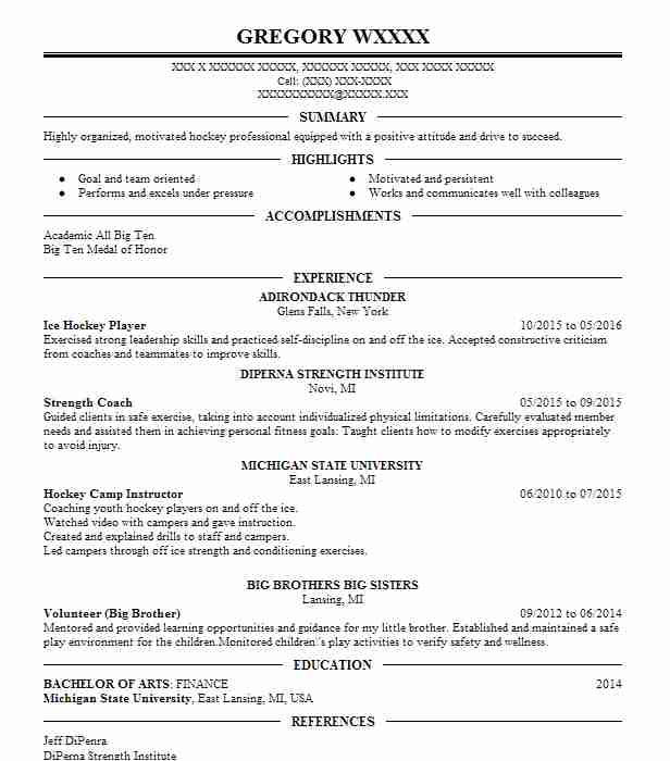 head ice hockey coach resume example travel club level new junior template quick and easy Resume Junior Hockey Resume Template