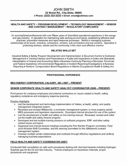 health and safety resume best of senior analyst template job samples examples experience Resume Safety Experience Resume