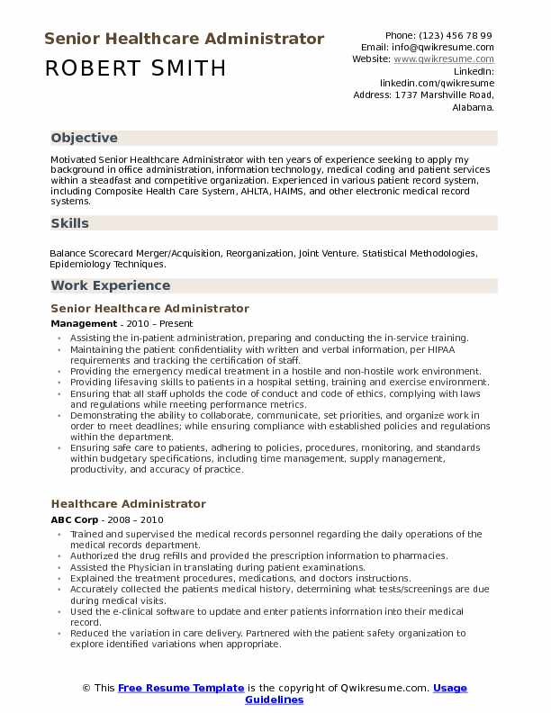 healthcare administrator resume samples qwikresume objective pdf cubic template examples Resume Healthcare Resume Objective