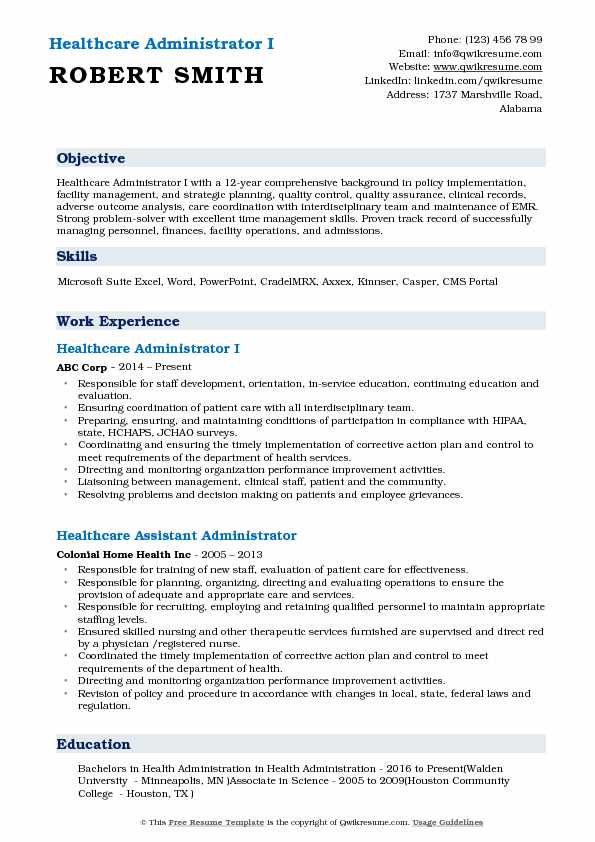 healthcare administrator resume samples qwikresume objective pdf nice customer service Resume Healthcare Resume Objective