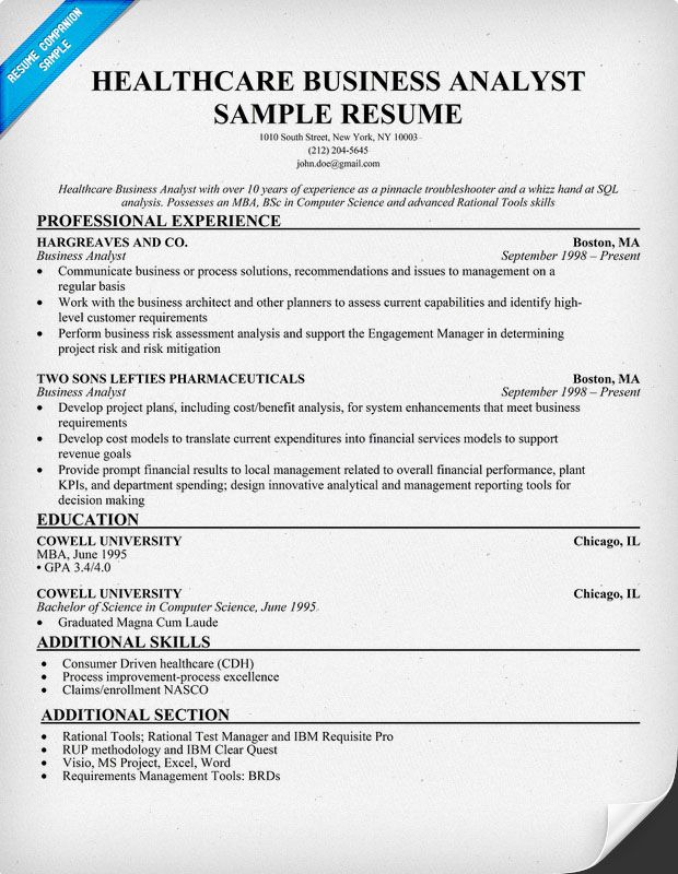 healthcare business analyst resume sample january domain project description for work Resume Healthcare Domain Project Description For Resume