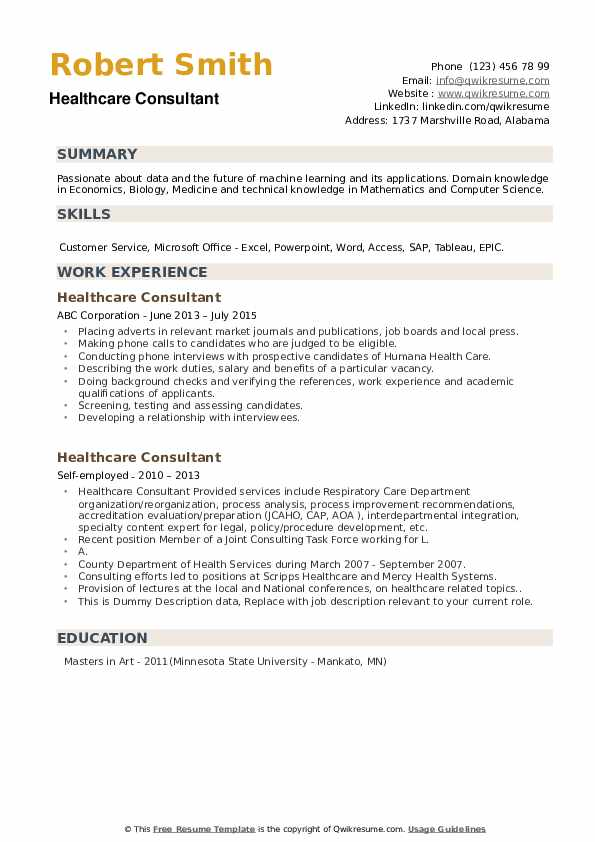 healthcare consultant resume samples qwikresume domain project description for pdf name Resume Healthcare Domain Project Description For Resume