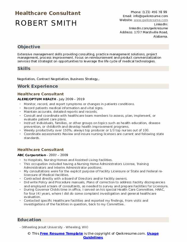 healthcare consultant resume samples qwikresume objective pdf examples for any job nice Resume Healthcare Resume Objective