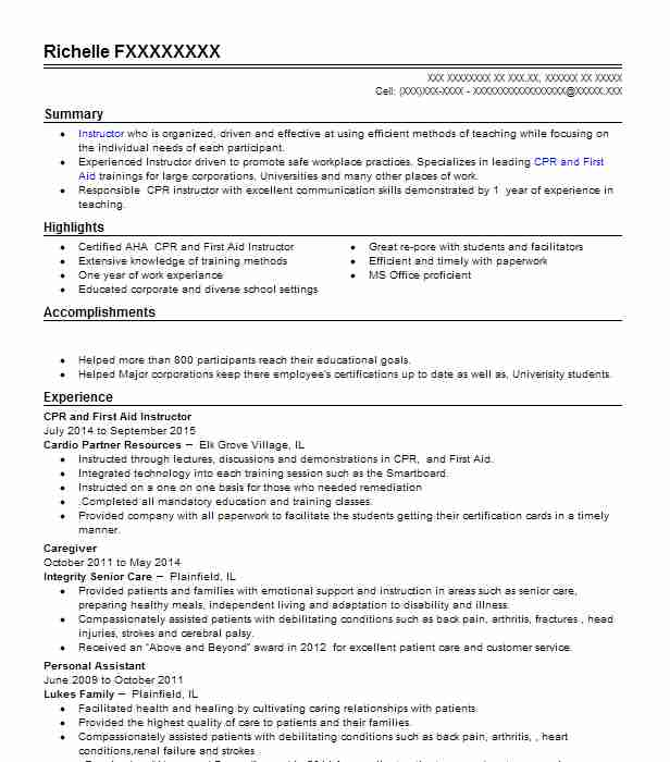 heart saver first aid cpr resume example training brent and certification for masters Resume Cpr And First Aid Certification Resume