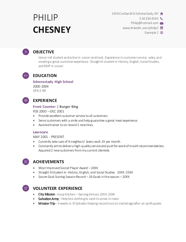 high school resume demo template putting together great system administrator examples Resume Putting Together A Great High School Resume