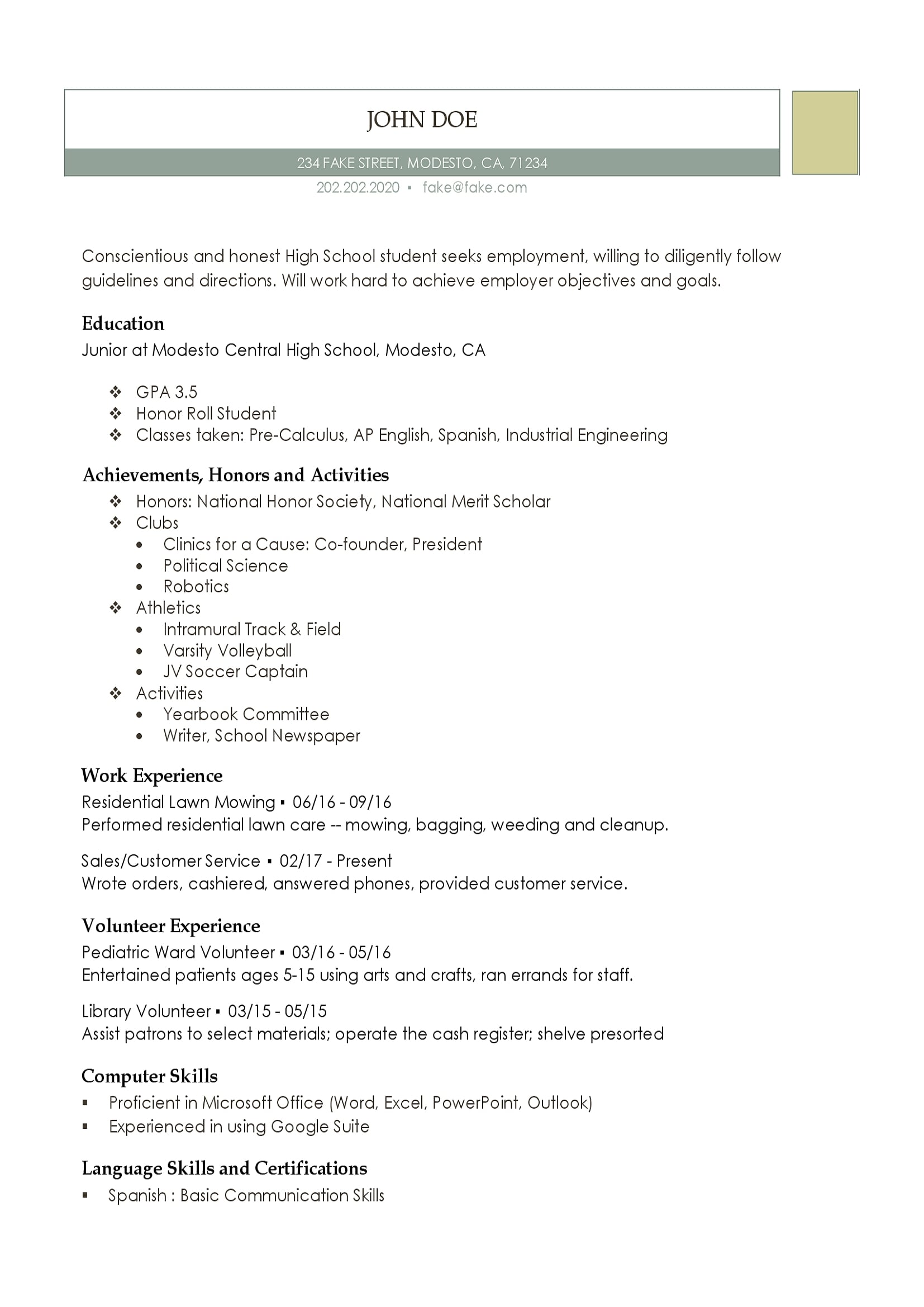 high school resume templates for students and teens teenage coaching template call center Resume High School Teenage Resume